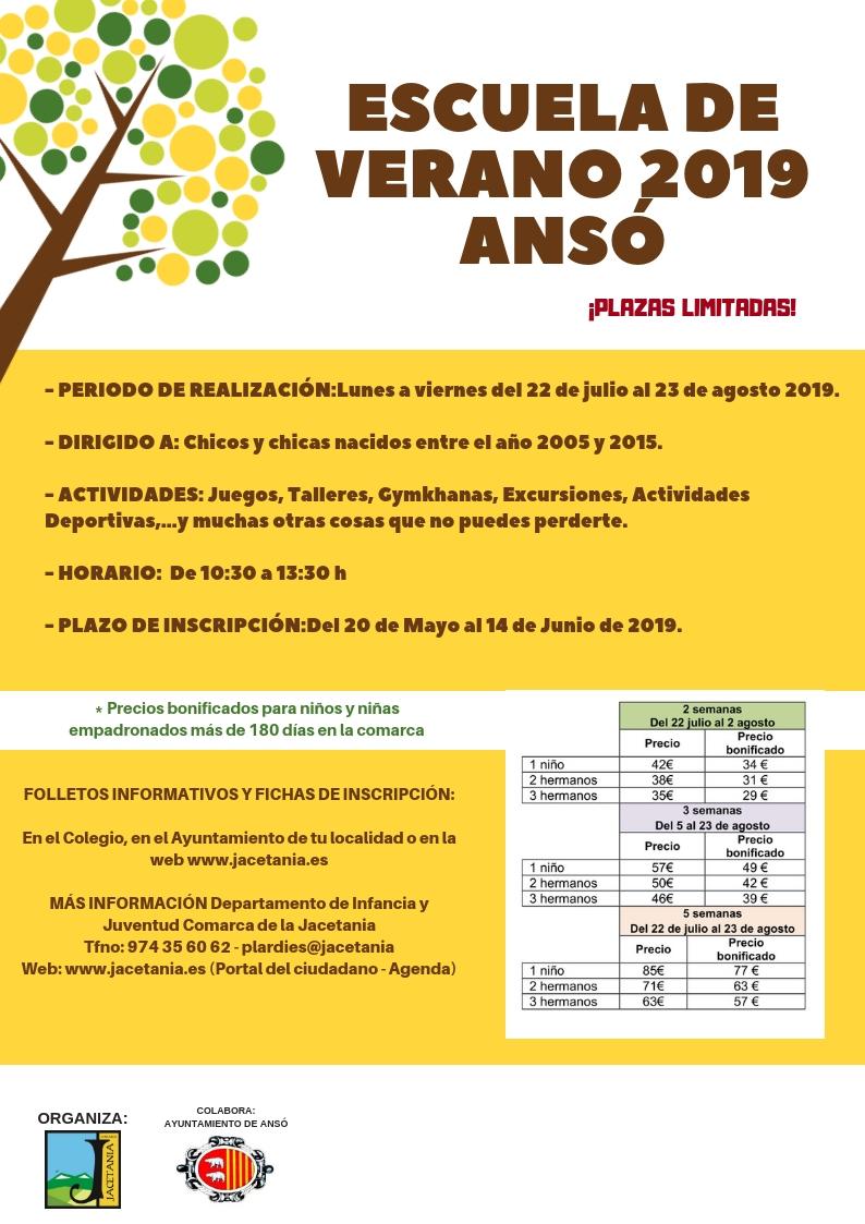 38 Juegos Deportivos Municipales Calendario.Escuelas De Verano 2019 Comarca De La Jacetania